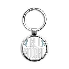 Team Edward Round Keychain