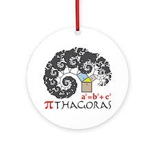 Pi thagoras Round Ornament