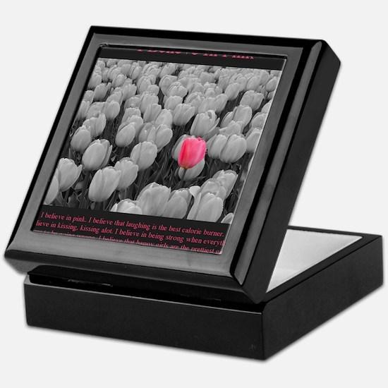I Believe In Pink Keepsake Box