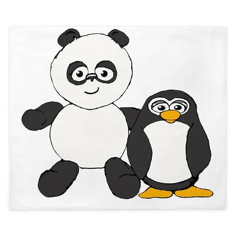 Panda And Penguin King Duvet By Admin Cp7673574