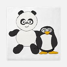 Panda and penguin Queen Duvet