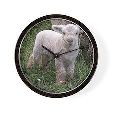 Cute Babydoll Lamb Wall Clock