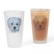 Malti-poo Apricot Drinking Glass