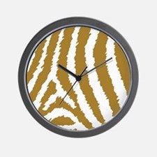 Light Tan Brown Zebra Print Wall Clock