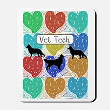 vet tech 2 hearts Mousepad