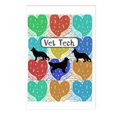 vet tech 2 hearts Postcards (Package of 8)