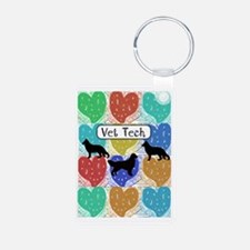 vet tech 2 hearts Keychains