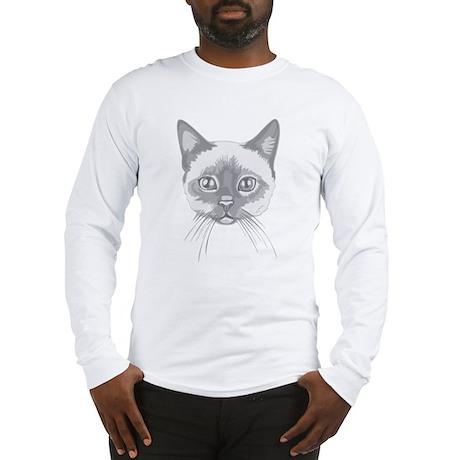 Tonkinese Cat Illustration Long Sleeve T-Shirt
