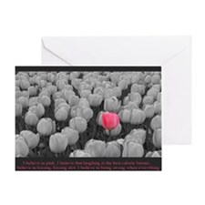 I Believe In Pink Greeting Card