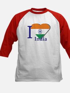 I love India Kids Baseball Jersey