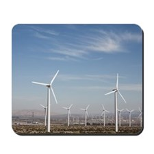 Windmills in the desert making energy wi Mousepad