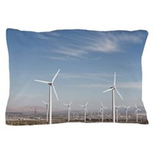 Windmills in the desert making energy  Pillow Case