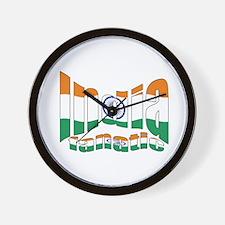 Indian flag sports fanatic Wall Clock