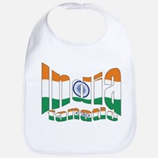 Indian flag sports fanatic Bib