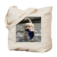 Yellow Lab puppy Tote Bag