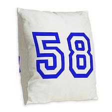 #58 Burlap Throw Pillow