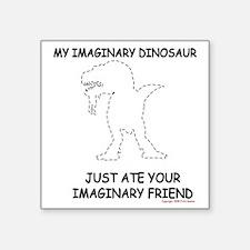 """Imaginary Dino 2 Square Sticker 3"""" x 3"""""""