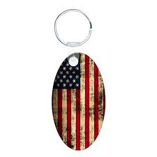 American Flag Distressed Keychains