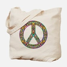 Peace Symbol Psychedelic Art Design Tote Bag