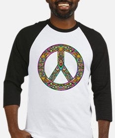 Peace Symbol Psychedelic Art Desig Baseball Jersey