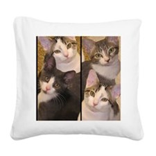 flipflopcats Square Canvas Pillow