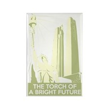 Bright Future scifi vintage Rectangle Magnet