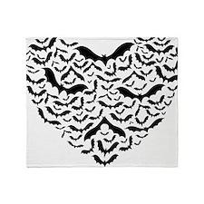 Bat heart Throw Blanket