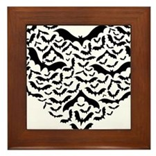 Bat heart Framed Tile