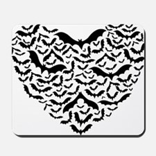 Bat heart Mousepad