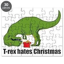 T-rex hates Christmas Puzzle