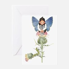 thistle fairy Greeting Card