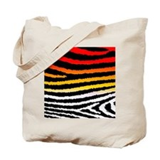Cool Artsy Jagged Zebra Print Tote Bag