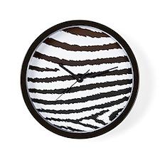 Creative Jagged Zebra Print Wall Clock