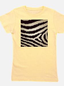Classy Brown Jagged Zebra Print Girl's Tee