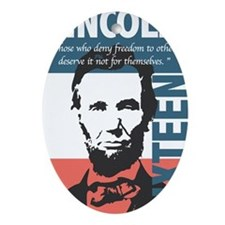 Abraham Lincoln 16th President Oval Ornament