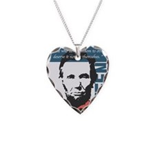 Abraham Lincoln 16th Presiden Necklace Heart Charm