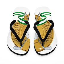 Golf Emblem Flip Flops