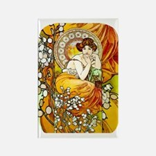 PwrBnk-Topaz Jewel Mucha Lady Rectangle Magnet