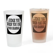 grammarbutton Drinking Glass