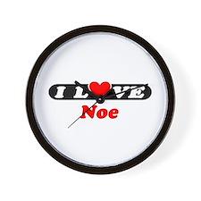 I Love Noe Wall Clock