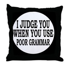 grammarbutton Throw Pillow