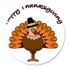 Thanksgiving Turkey Round Car Magnet