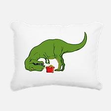 T-rex hates Christmas Rectangular Canvas Pillow