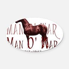 Man o War Oval Car Magnet