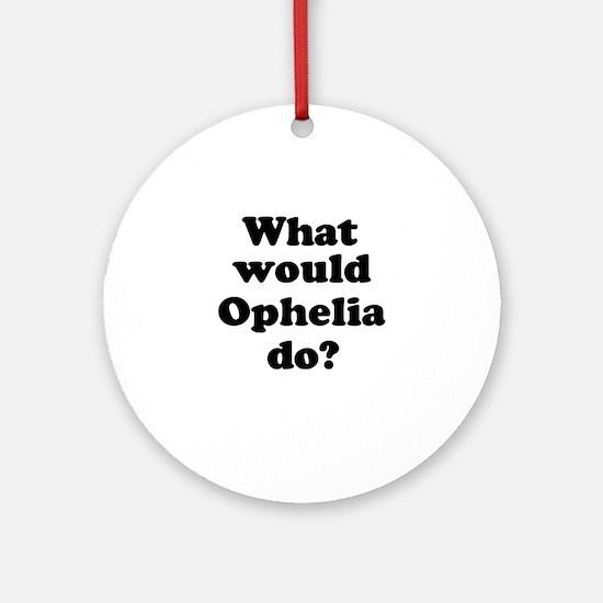 Ophelia Ornament (Round)