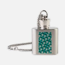 Green Spirit Shapes Designer Flask Necklace