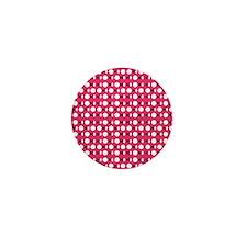 Pink Red Perception Designer Mini Button