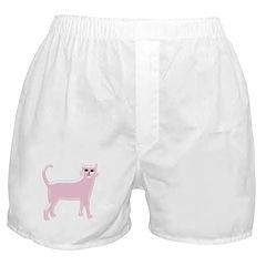 Pink Cat Boxer Shorts