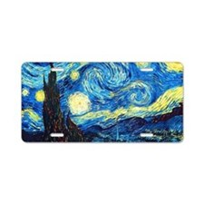 Starry Night Aluminum License Plate