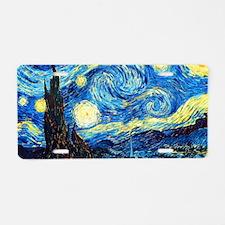 Starry Night Aluminum License Plate